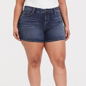 Torrid High Rise Shorts- Dark Wash